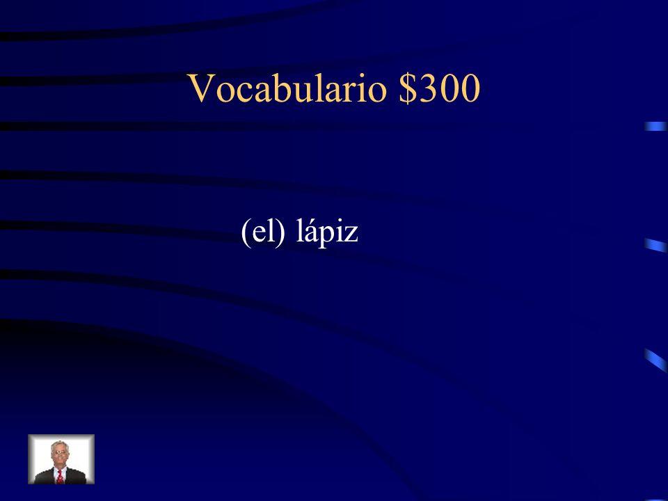 Vocabulario $300 ¿Cómo se dice pencil en español?