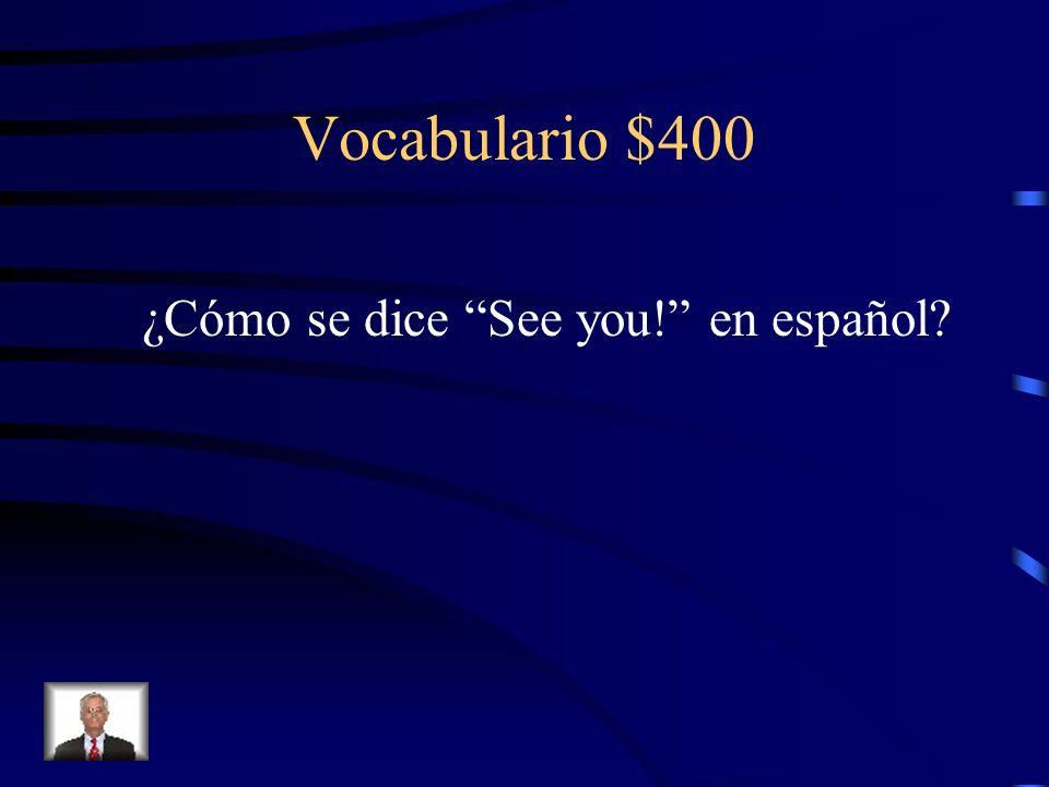 Vocabulario $300 (el) lápiz