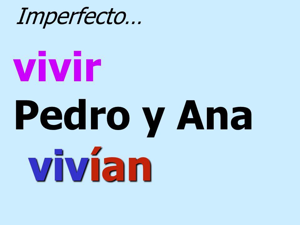 poder Ana no podía Imperfecto…
