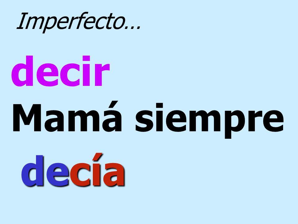 vivir Pedro y Ana vivían Imperfecto…