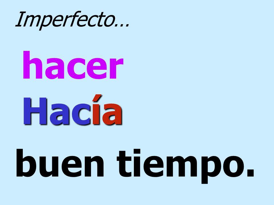 poder Nosotros no podíamos Imperfecto…