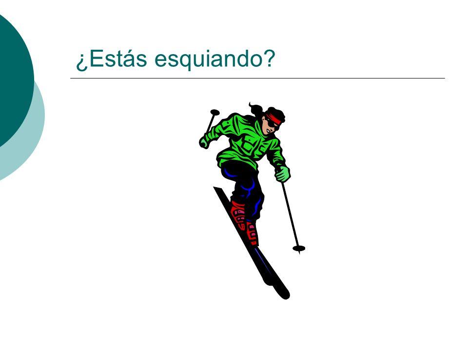 ¿Estás esquiando?