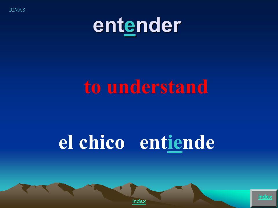 to understand el chicoentiende entender index RIVAS index