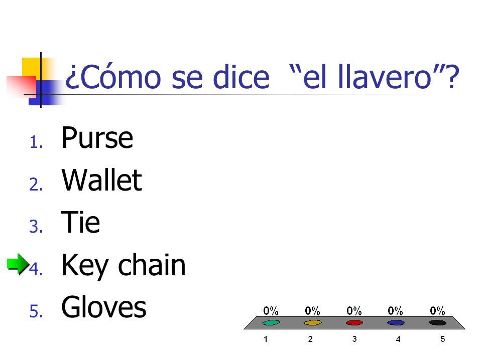 ¿Cómo se dice la cadena? 1. Earrings 2. Chain 3. Necklace 4. Bracelet 5. Ring