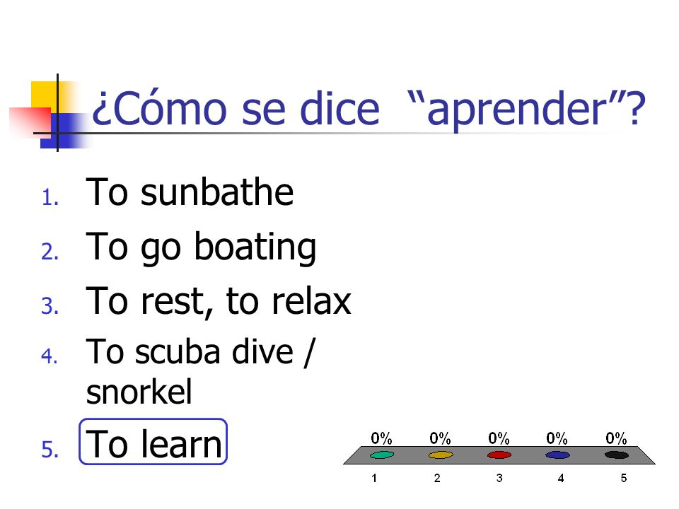 ¿Cómo se dice pasear en bote.1. To pass time 2. To sunbathe 3.