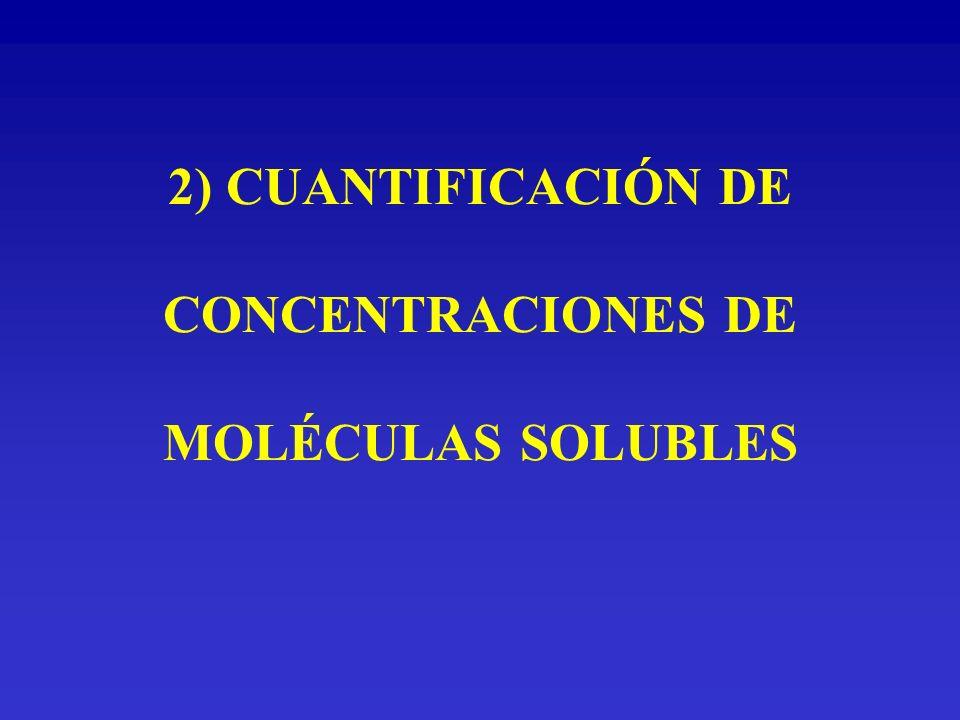 2) CUANTIFICACIÓN DE CONCENTRACIONES DE MOLÉCULAS SOLUBLES
