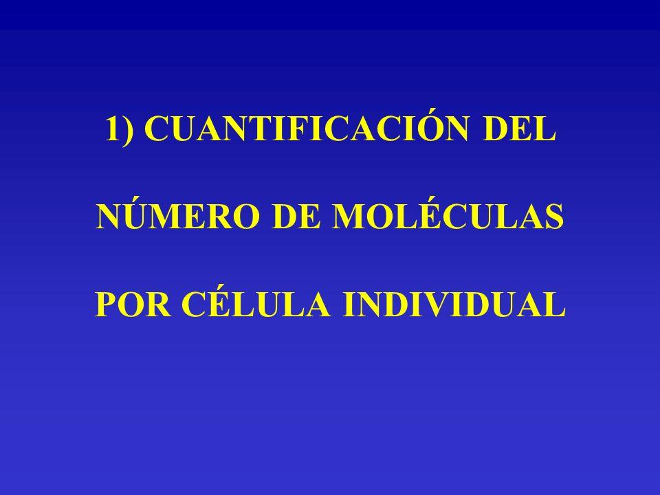 Cuantificación del número de moléculas por célula individual Cuantificación del número medio de moléculas por célula La cantidad de antígeno que contiene cada célula se expresa en ABC (antigen binding capacity) o capacidad de unión antigénica