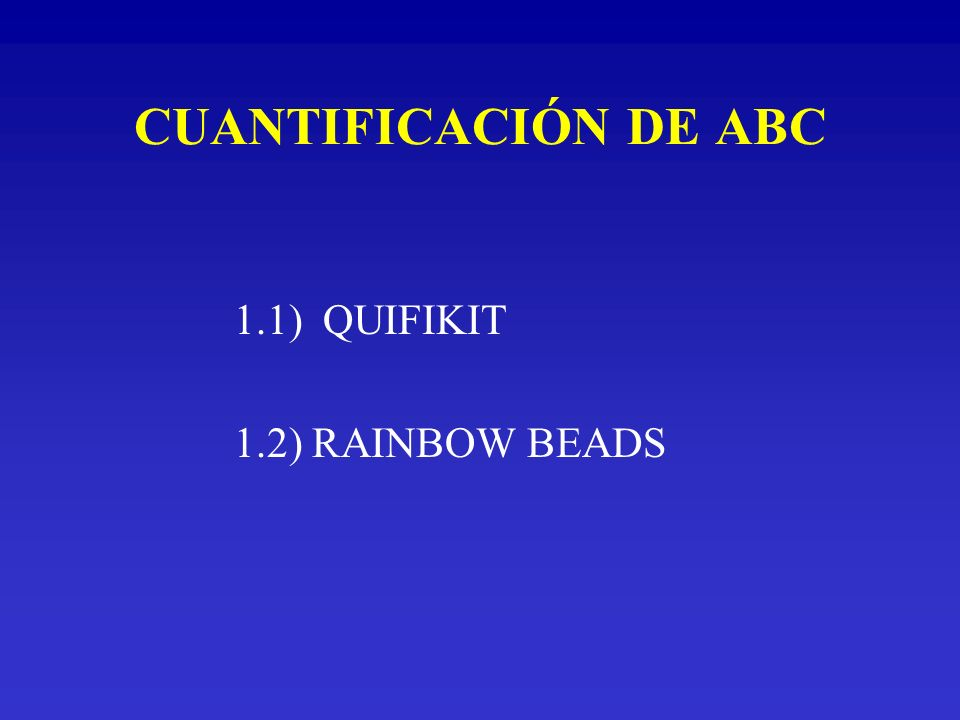 1.1) QUIFIKIT: FUNDAMENTO Micropartículas de calibración con cantidades determinadas de IgG unidas.
