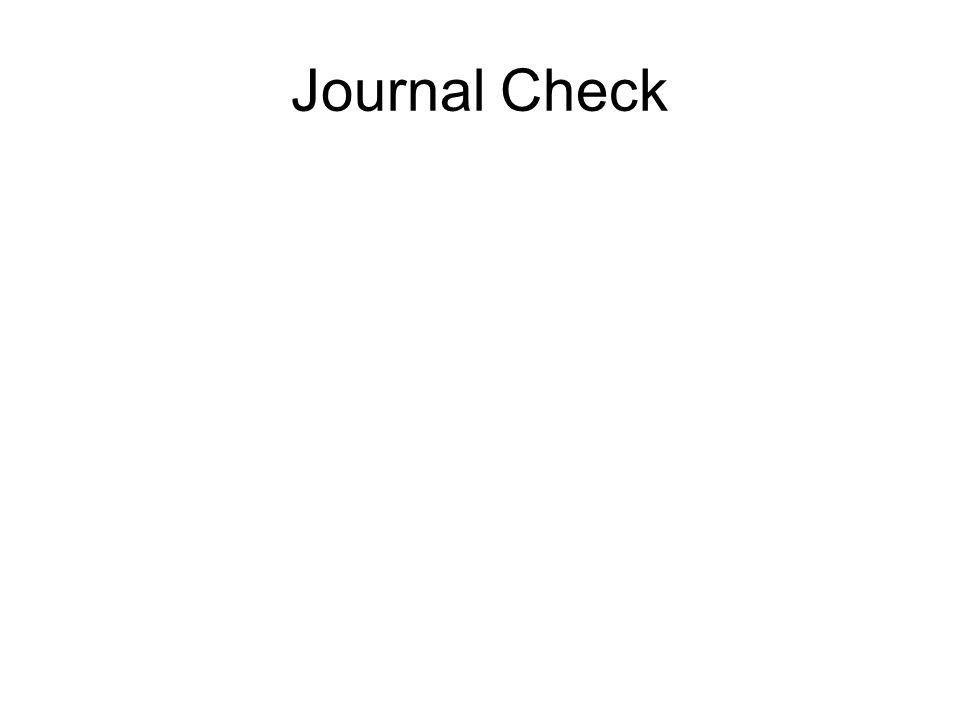 Journal Check