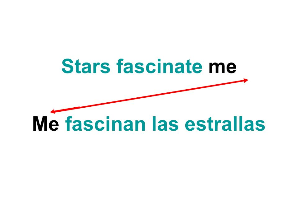 Stars fascinate me Me fascinan las estrallas