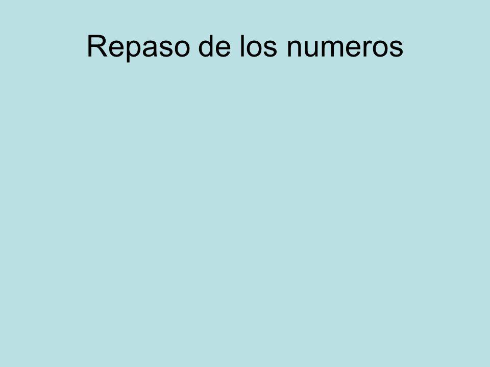 Repaso de los numeros