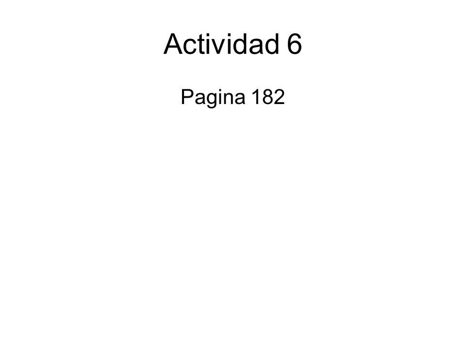 Actividad 6 Pagina 182