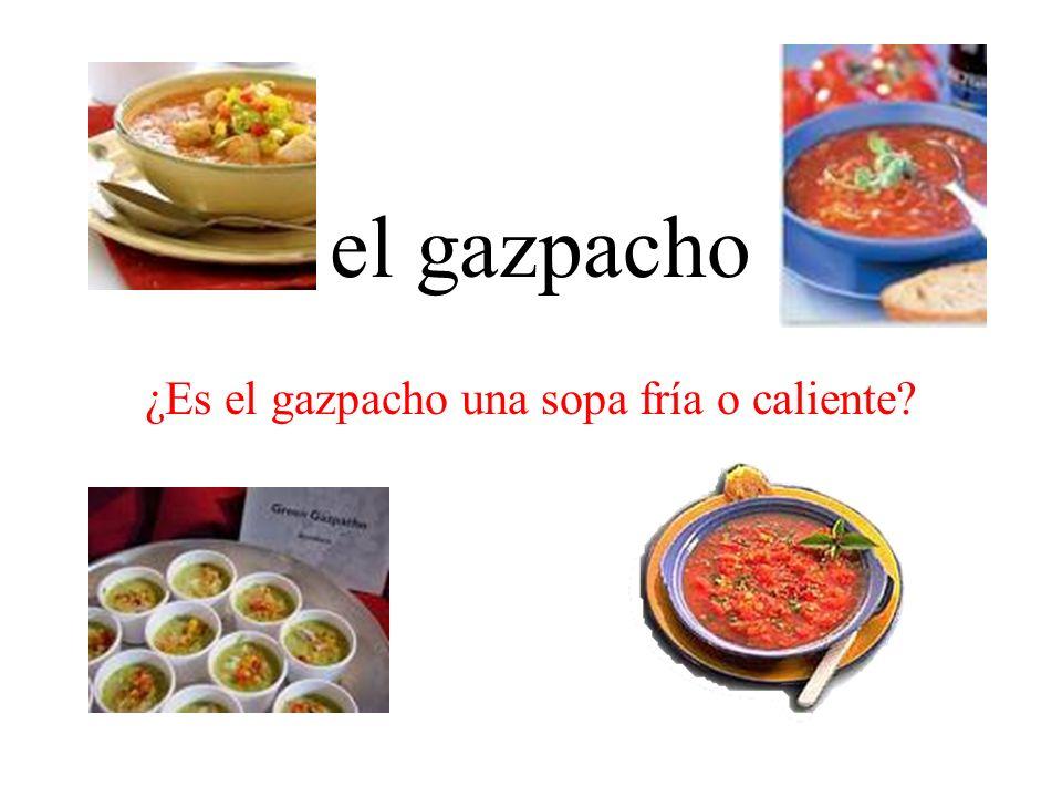 el gazpacho ¿Es el gazpacho una sopa fría o caliente?