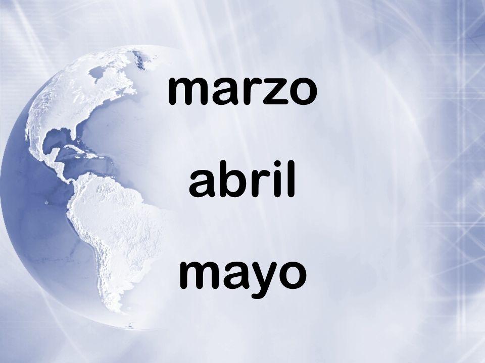 marzo abril mayo
