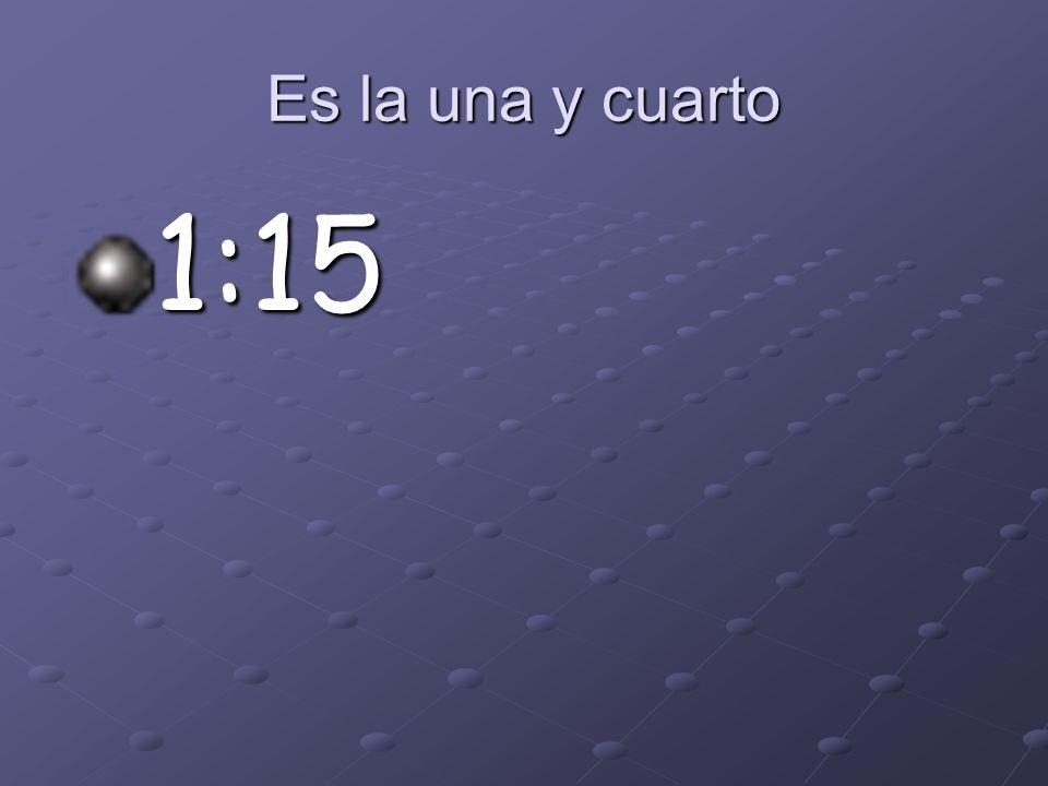 Son las doce y cuarto 12:15