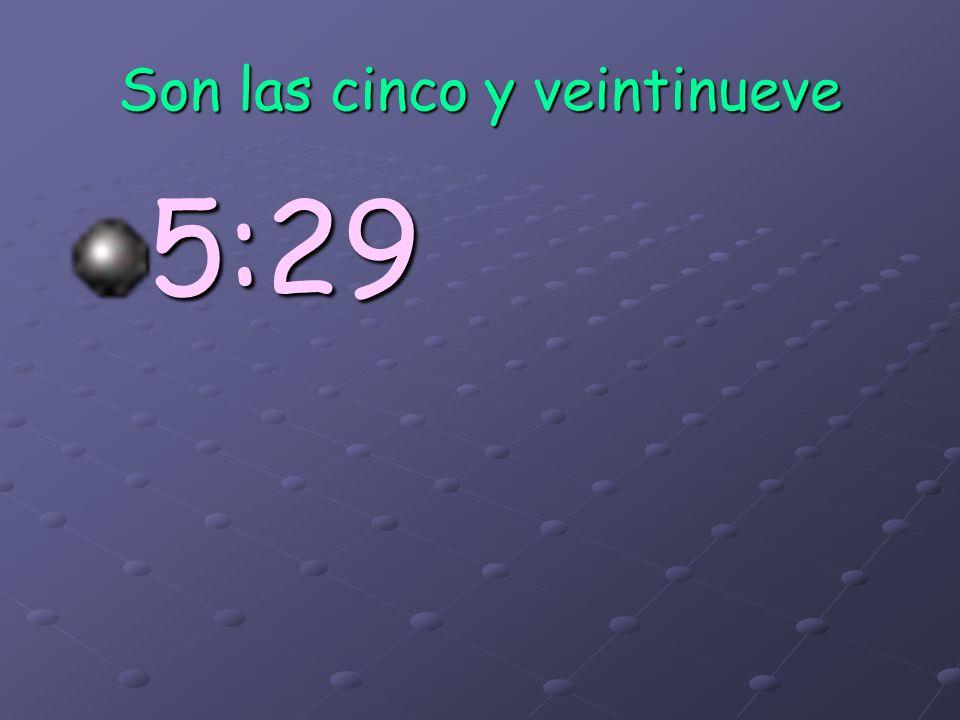 1:45= Son las dos menos cuarto 8:45= Son las nueve menos cuarto 8:45= Son las nueve menos cuarto 2:45=Son las tres menos cuarto 9:45= Son las diez men