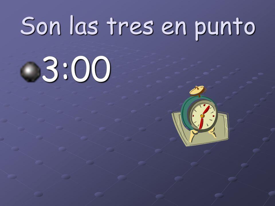 ¿Qué hora es? 5:15