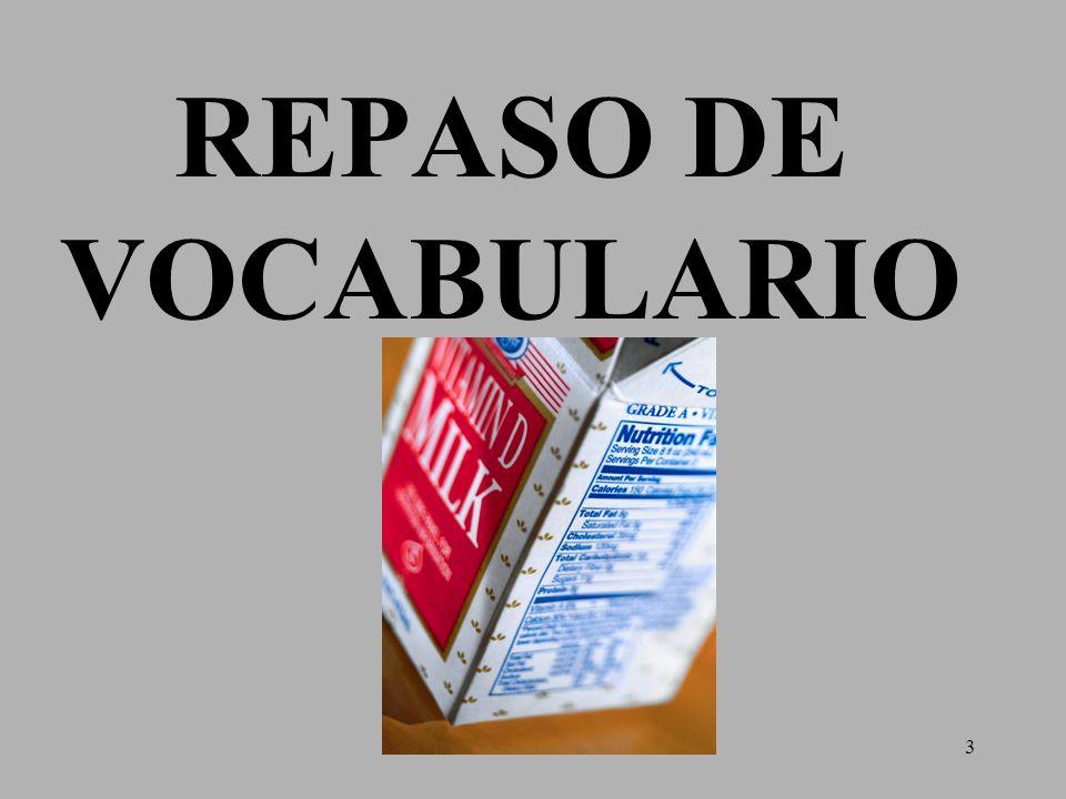 3 REPASO DE VOCABULARIO