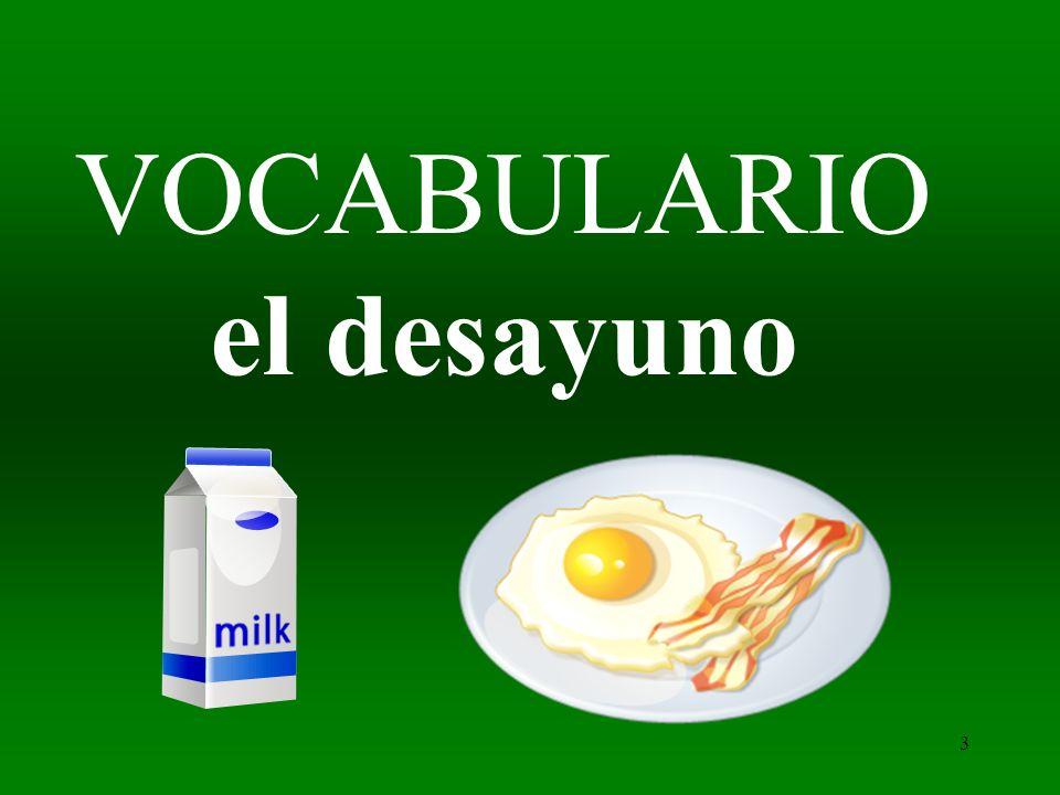 3 VOCABULARIO el desayuno