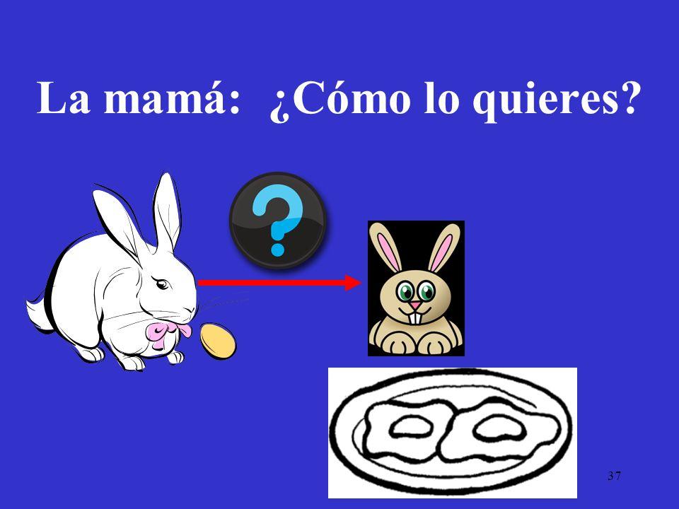 37 La mamá: ¿Cómo lo quieres?