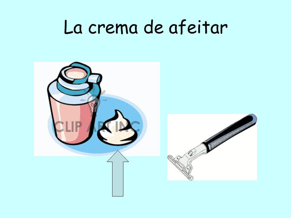 La crema de afeitar