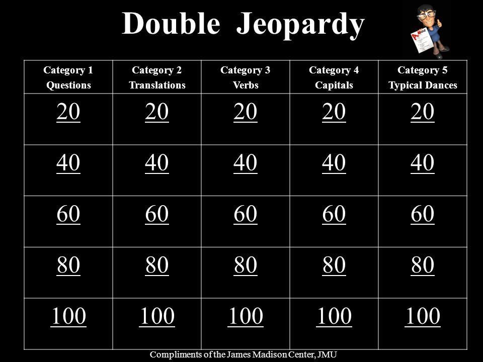 ¿Como se dice el verbo to go? Category 3 – 20 points
