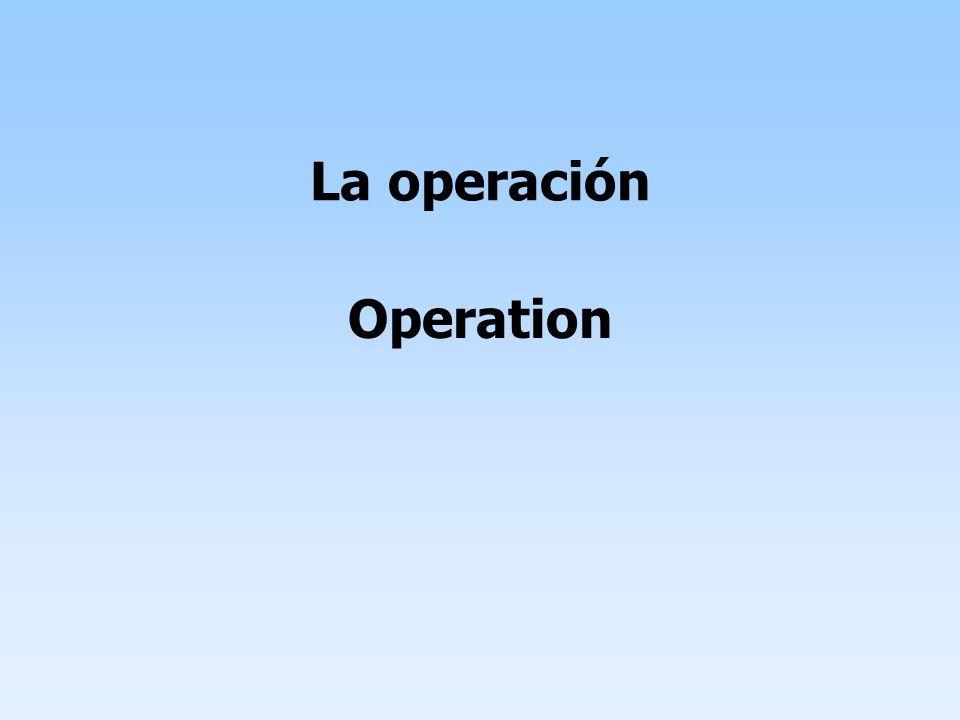 Operation La operación