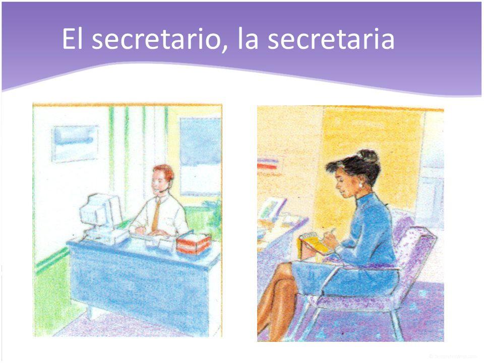 El secretario, la secretaria