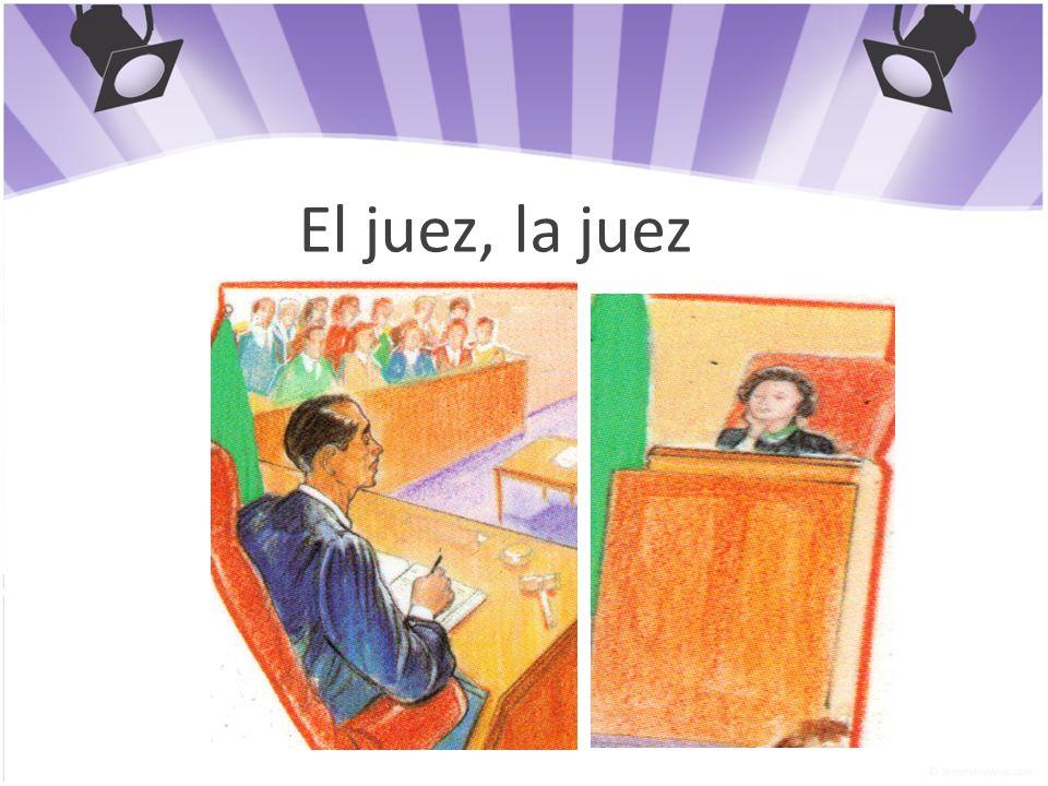 El juez, la juez