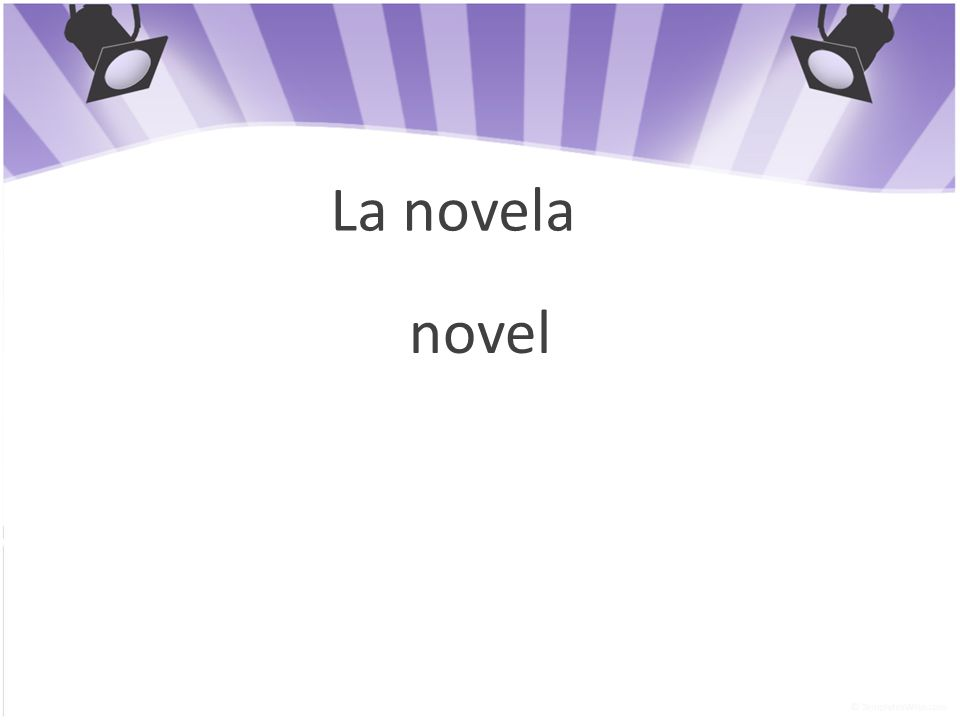 La novela novel