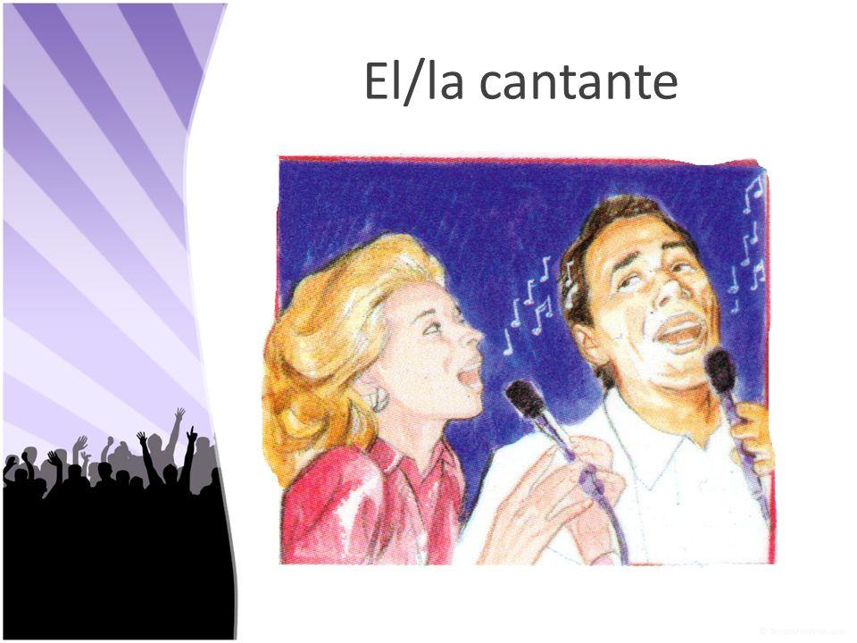 El/la cantante