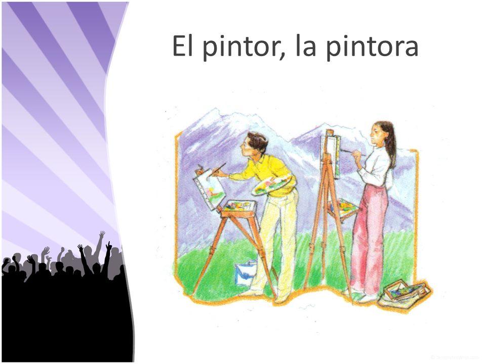 El pintor, la pintora