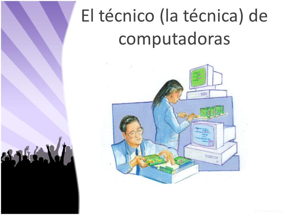 El técnico (la técnica) de computadoras