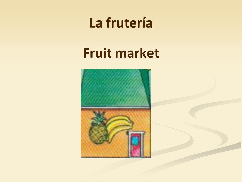 La frutería Fruit market