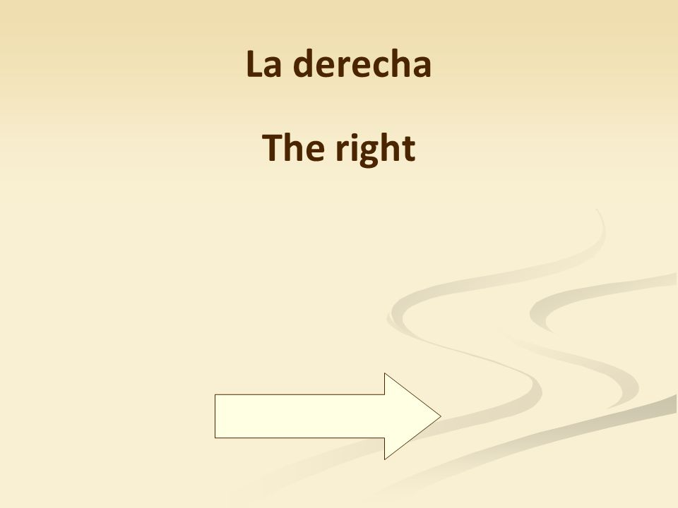 La derecha The right