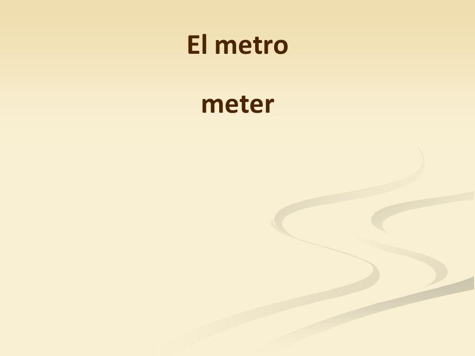 El metro meter