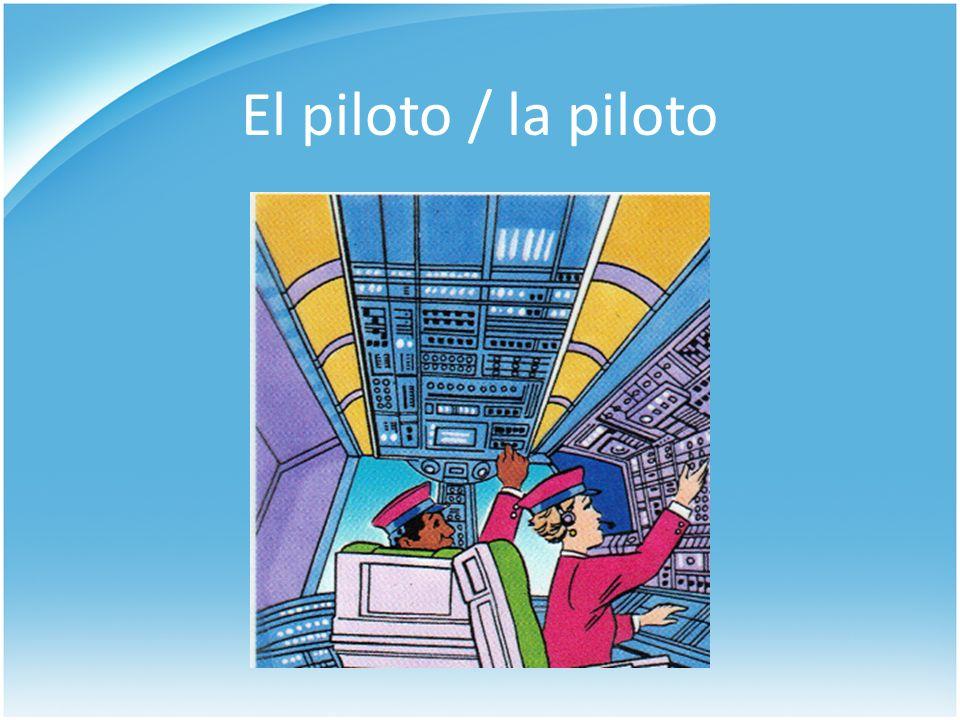 El piloto / la piloto