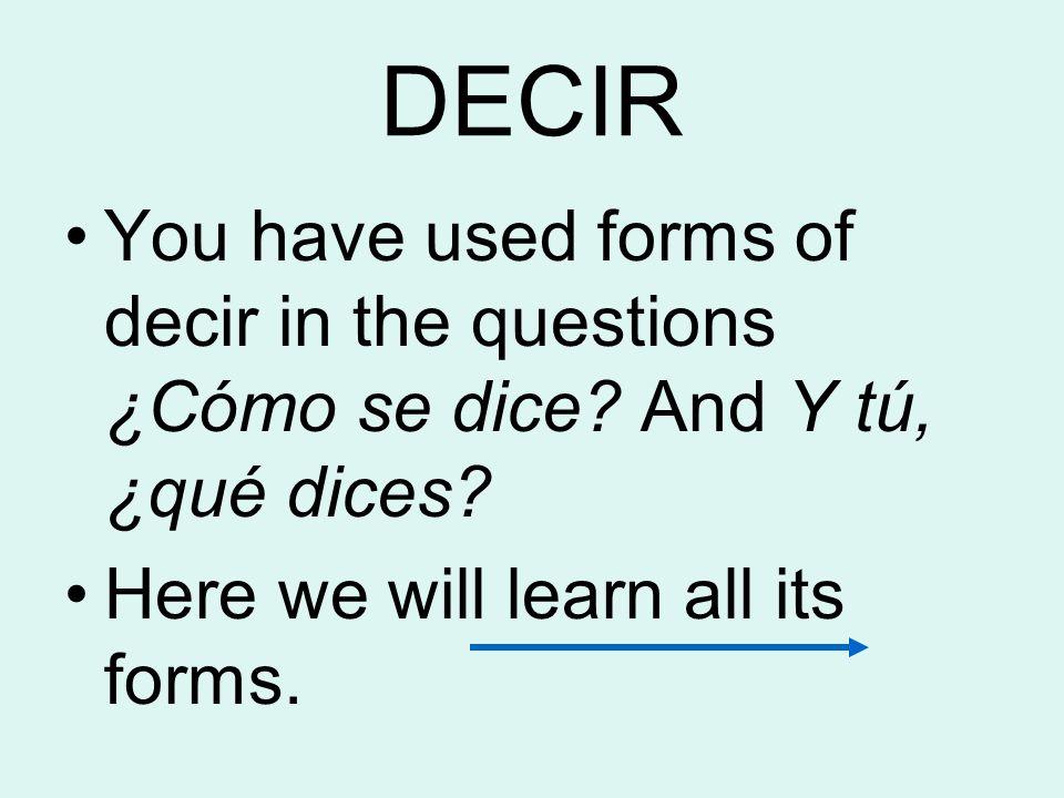El preterito de DECIR y DAR Pág. 148
