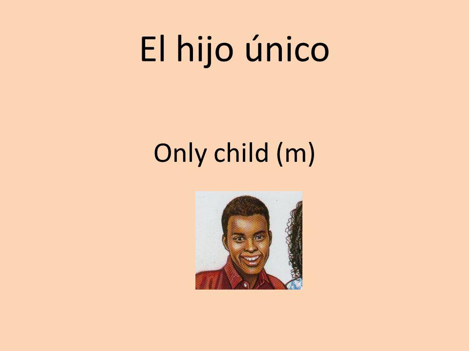 El hijo único Only child (m)