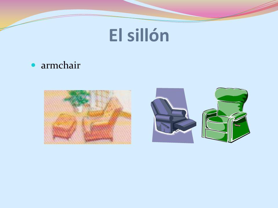 El sillón armchair