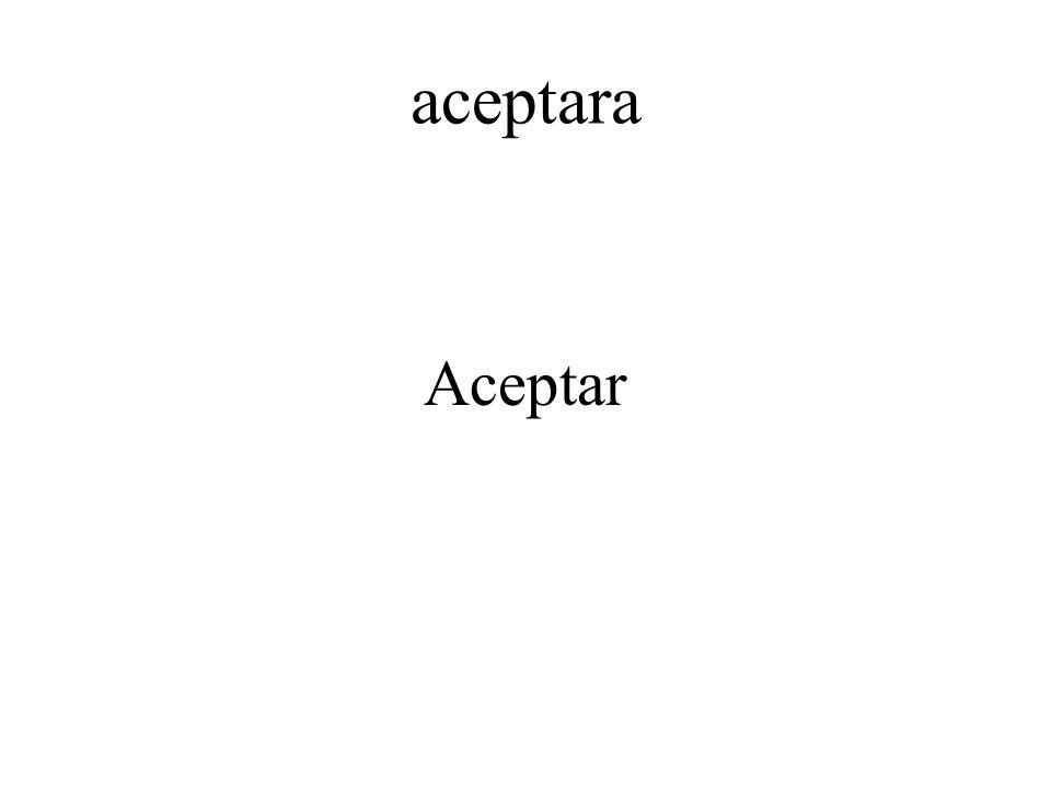 aceptara Aceptar