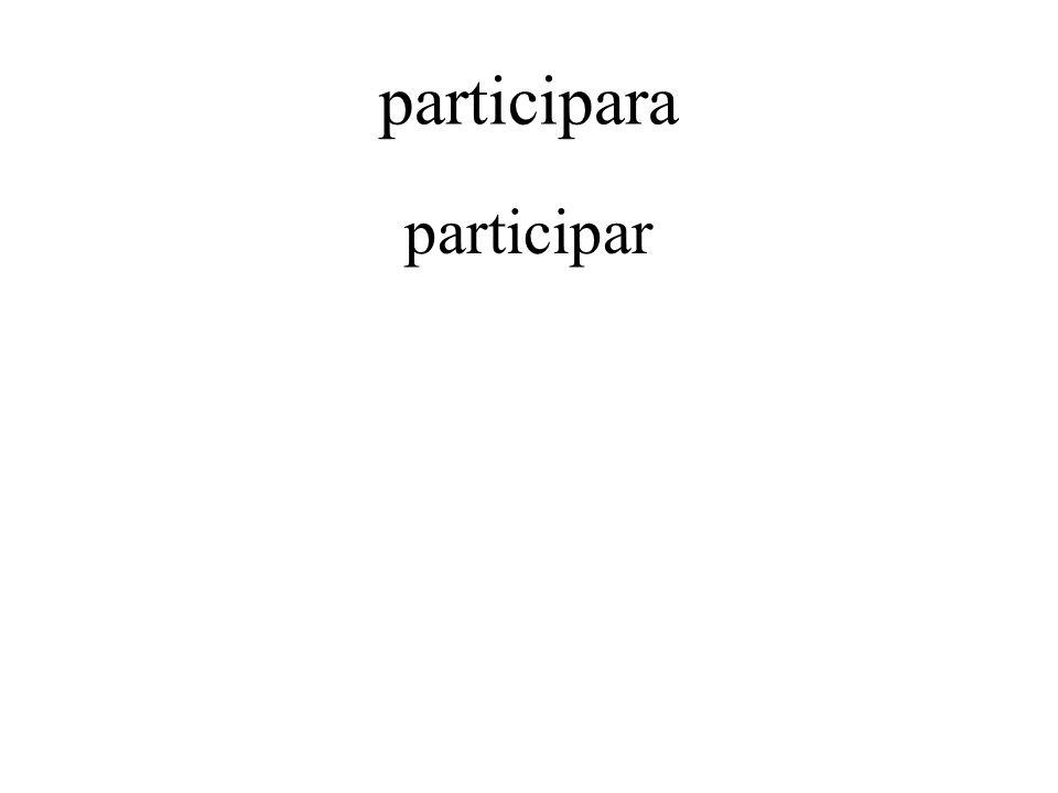 participara participar