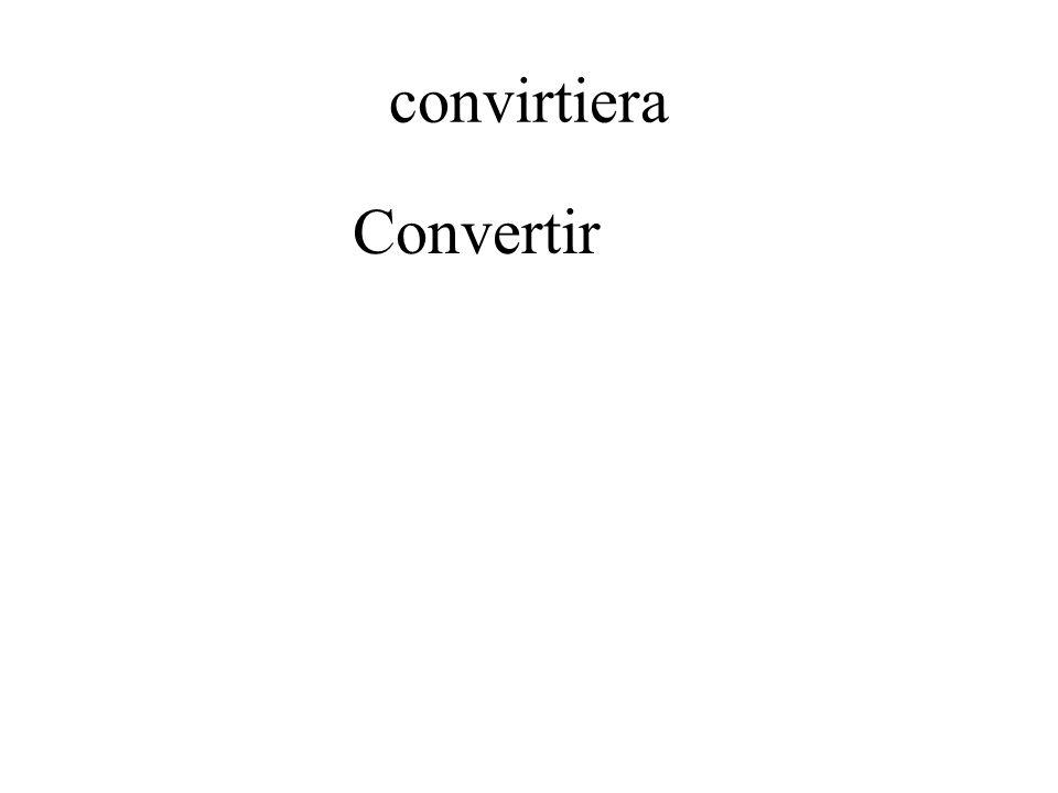 convirtiera Convertir