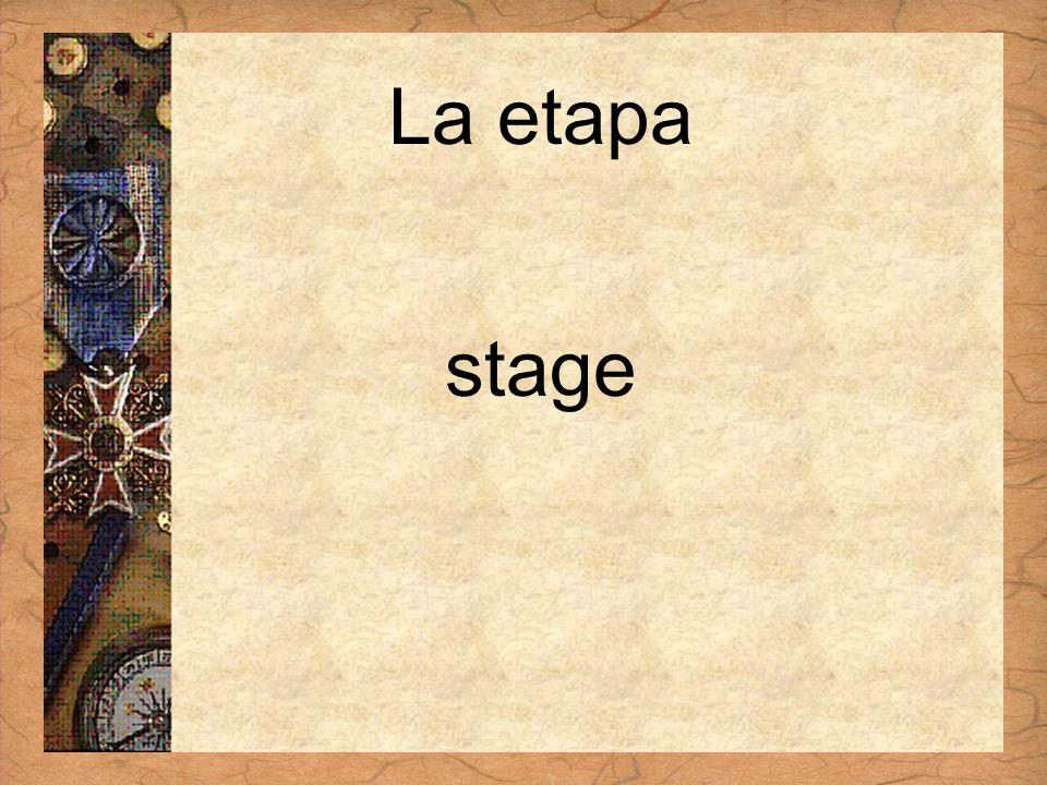 Español 3 Tema para investigar Capítulo 3 Páginas 102-103 La etapa stage