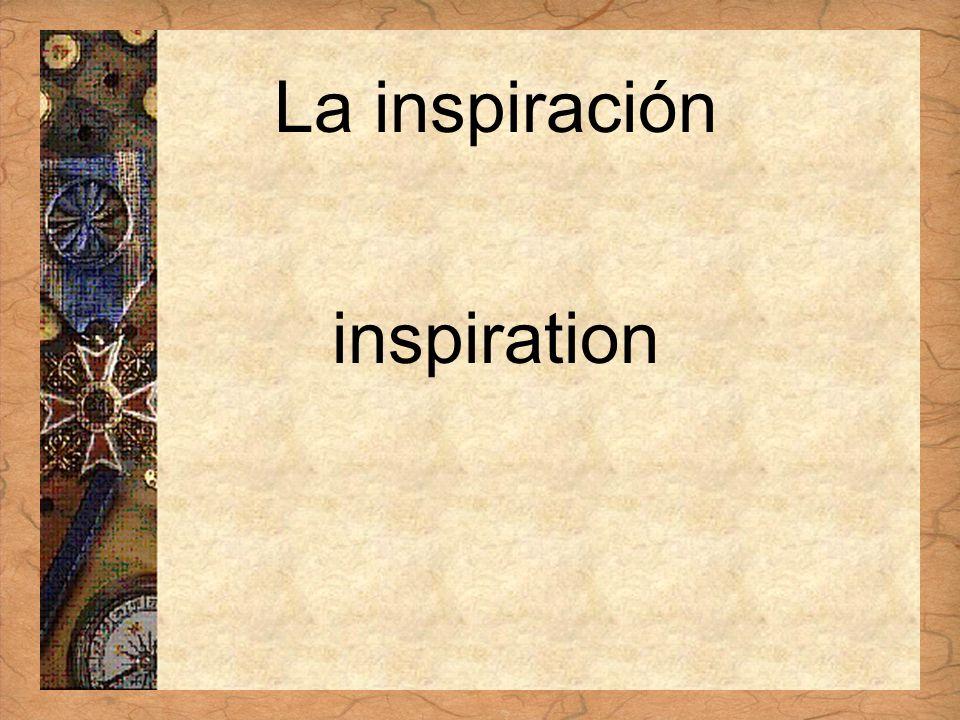 Español 3 Tema para investigar Capítulo 3 Páginas 102-103 La inspiración inspiration
