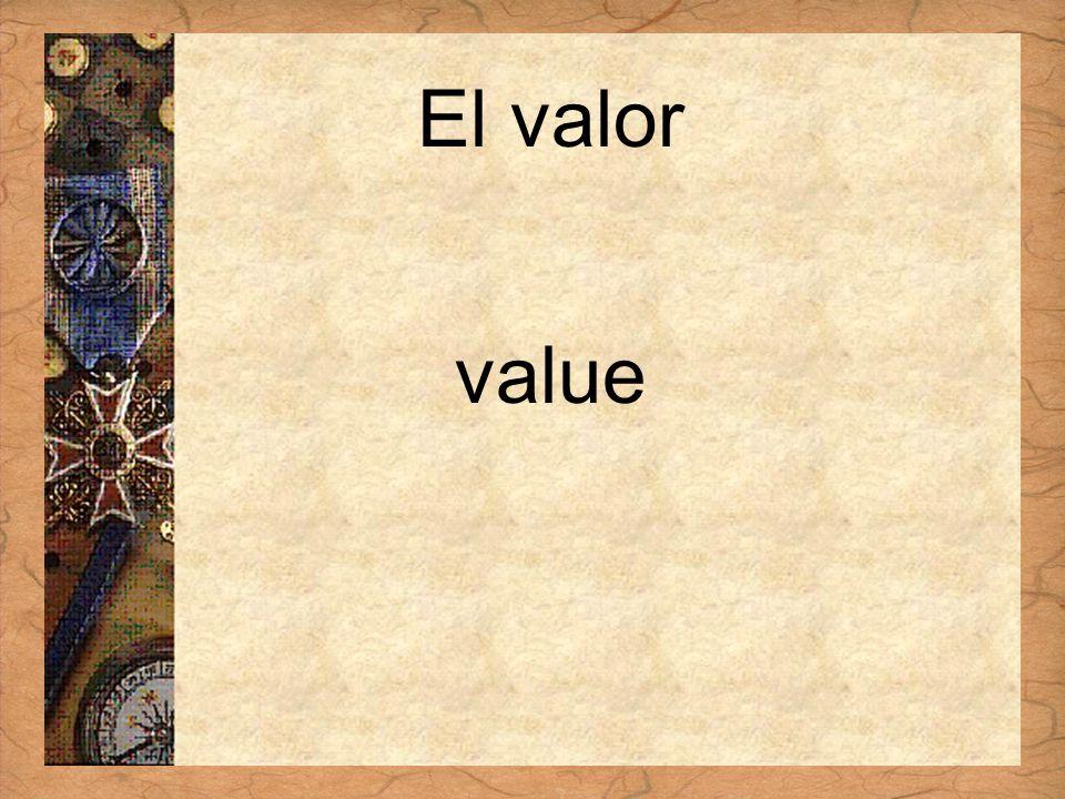 Español 3 Tema para investigar Capítulo 3 Páginas 102-103 El valor value