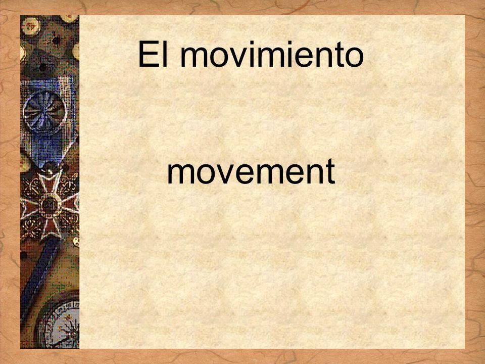 Español 3 Tema para investigar Capítulo 3 Páginas 102-103 El movimiento movement