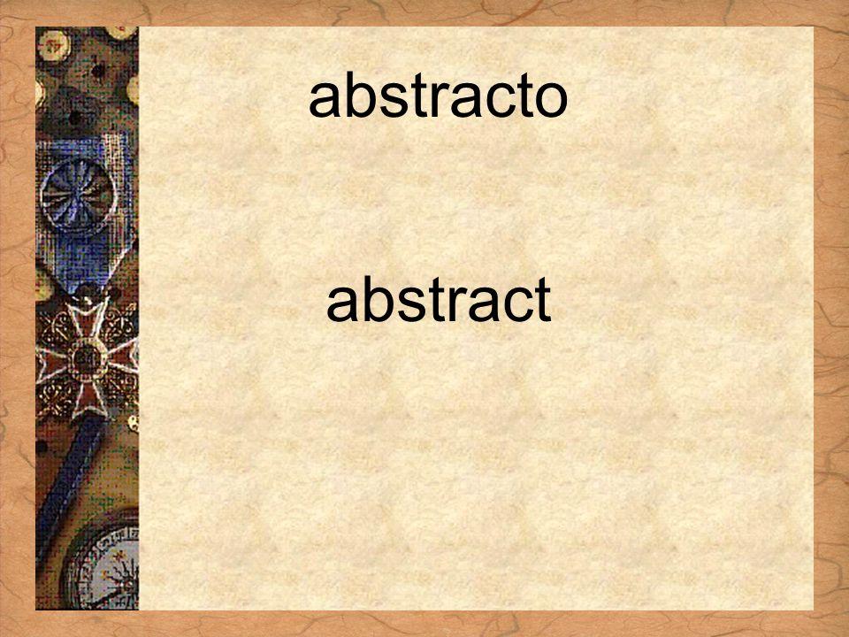 Español 3 Tema para investigar Capítulo 3 Páginas 102-103 abstracto abstract