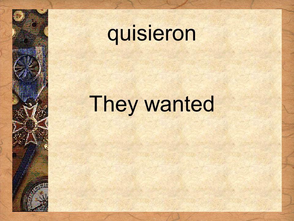 Español 3 Tema para investigar Capítulo 3 Páginas 102-103 quisieron They wanted