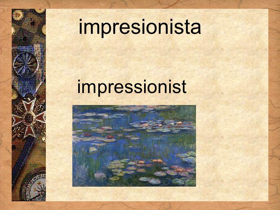 Español 3 Tema para investigar Capítulo 3 Páginas 102-103 impresionista impressionist